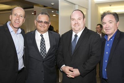 Sagi ben-Yosef UIA, Richard Balkin ZCNSW, Yair Miller NSWJBD and Alex Abulafia JNF