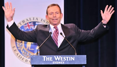 Leader of the Opposition Tony Abbott           pic: Henry Benjamin