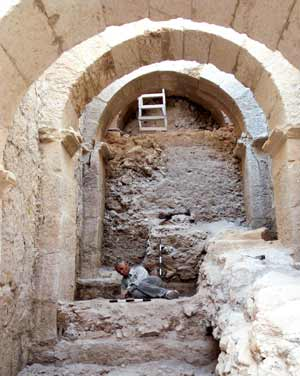 Ancient entryway Photo: Herodium Expedition at the Hebrew University of Jerusalem