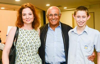 Roni Shorer, Avigdor Kahalani and Shachal Shorer   pic: Henry Benjamin