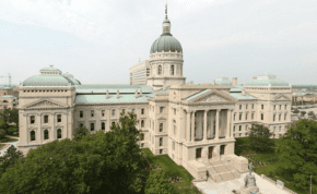 The state capitol building of Indiana, whose House of Representatives was the latest U.S. state legislature to pass legislation combating the Boycott, Divestment and Sanctions (BDS) movement against Israel. Credit: Massimo Catarinella via Wikimedia Commons.