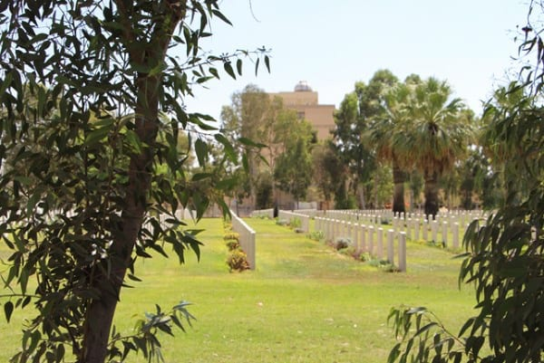 View to the Commonwealth War Graves Cemetery in Beersheba near to ANZAC (Australian and New Zealand Army Corps) Museum work site. Photo: Yoav Devir
