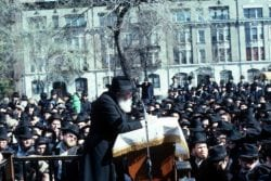 The Lubavitcher Rebbe at the 1981 Blessing of the Sun in New York