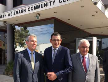 Mark Dreyfus, Premier Daniel Andrews and Michael Danby