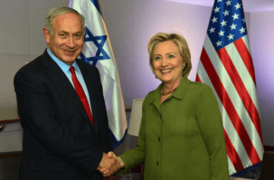 Democratic nominee Hillary Clinton meeting with Israeli Prime Minister Benjamin Netanyahu in September. Credit: Kobi Gideon/GPO.