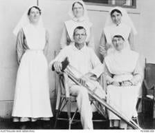 Michael Shanahan in hospital – Australian War Memorial photo AWM P03088.008