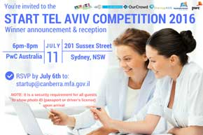 Israeli embassy hosts Australian start-up competition
