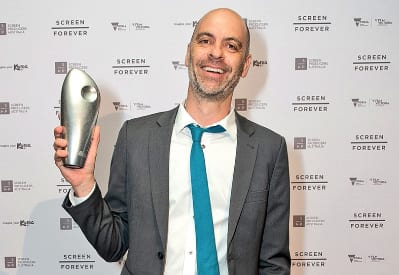 Producer Dan Goldberg and the award presented to Mint Pictures