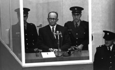 Adolf Eichmann during his trial [Archive]