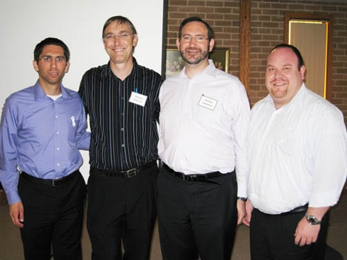 Rabbi Paul Jacobson, Rev Dr Stephen Robinson, Rabbi Jeremy Lawrence and Yair Miller