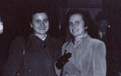 Eva Grinston and Ibi Wertheim in 1950