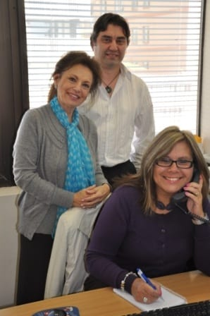 Eva Fischl [L] with FirstCall staff