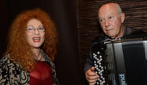 Fay Sussman and Eddie Bronson   Photo: Henry Benjamin