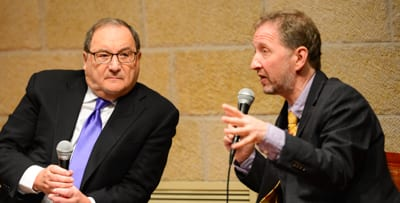 Abe Foxman talks to David Horowitz   Photo: henry Benjamin