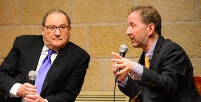 Abe Foxman talks to David Horowitz   Photo: henry Benjamin