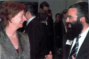Prime MInister Julia Gillard with Rabbi Dov Slavin