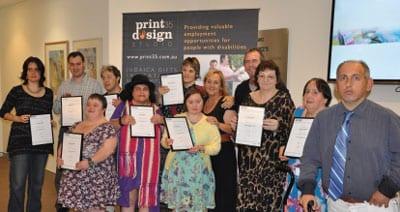 Proud certificate bearers