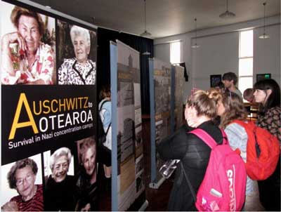 Schoolchildren visit the exhibition