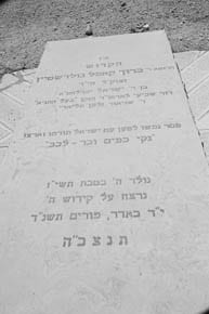 Baruch Goldstein's grave  Pic: Henry Benjamin
