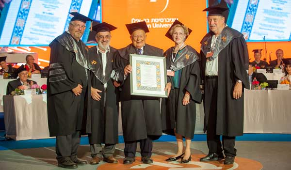 Dr Isi Leibler holds his honour