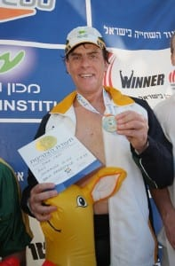 Jeff Sher with Maccabiah medals  p. Peter Haskin