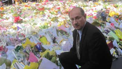 AIJAC's Jeremy Jones pays his respects in Martin Place