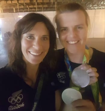 "Jo Alah and Po Gowring Photo: Faceboox A medal selfie picture ""Nothing like having to fight for it....Happy and tired, thank you to everyone who has sent such amazing messages of support. The medal is not just mine, it's all of ours..."""