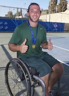 Gold medallist Adam Kellerman   pic: Steve Yarrow