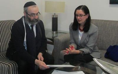 Rabbi Kluwgant and Yael Cass