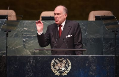 World Jewish Congress President Ronald S. Lauder addressing the conference at the United Nations in New York    Photo: Shahar Azran