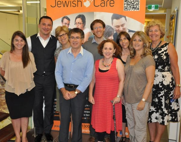 Claire Gil-Munoz , Mental Health Program Manager,  Dr Ivan Lakicevic, Dr Ilan Buchman, Claire Vernon  CEO JewishCare and JewishCare staff