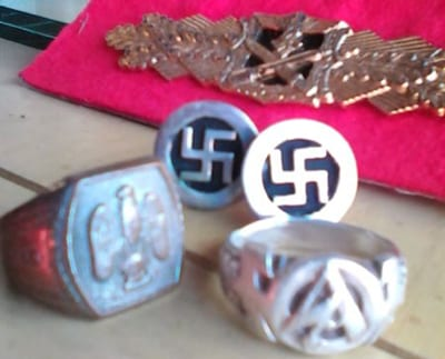 Examples of Nazi memorabilia being sold on Gumtree