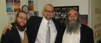 Rabbi Yisroel Rasin Dr David Nesenoff and rabbi Kaminetsky