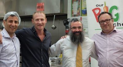 Rick Karpin: Rabbi Dovid Slavin (Founder: Our Big Kitchen); Russel Levert (General Manager Our Big Kitchen)