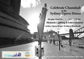 Menorah at the Opera House