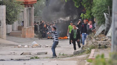 Palestinian rioters hurl rocks and firebombs at Israeli security forces in El-Arrub, southwest of Bethlehem. Credit: Israel Defense Forces.