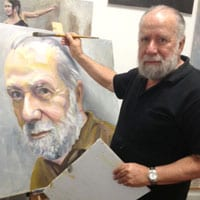 Robert Kremnizer at work in his studio