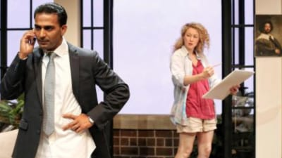 Sachin Joab and Sophie Ross in Sydney Theatre Company͛s Disgraced © Prudence Upton