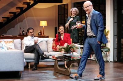 Sachin Joab, Paula Arundell, Sophie Ross and Glenn Hazeldine in Sydney Theatre Company͛s Disgraced © Prudence Upton