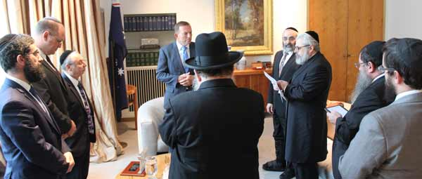 The Prime Minister meets the rabbis