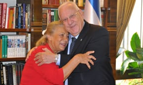 President Rivlin meets with Zakynthos hero's daughter