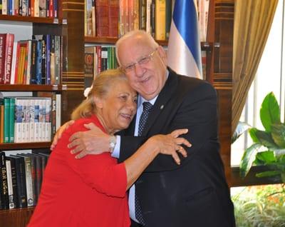 Lana Carrers and President Reuven Rivlin