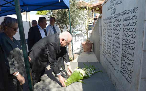 President Rivlin pays his respects