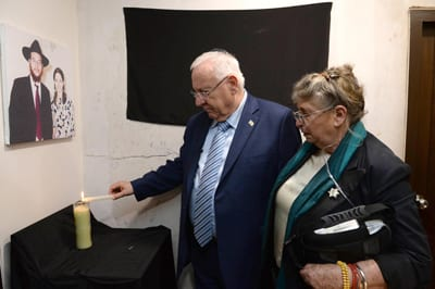 President Rivlin lights candle