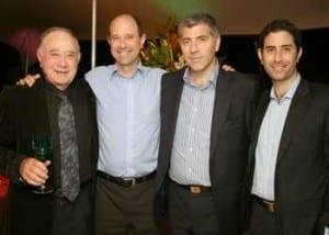 l-r Bert, Anton, Lance & Justin Rosenberg          p. Nadine Saacks