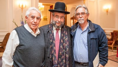 Harry Triguboff, Chief Rabbi Pinchas Goldshmit, Chairman of the European Rabbinic Council, Shalom Norman
