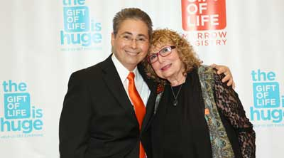 Jay Feinberg, Founder and CEO Gift of Life Marrow Registry USA with Shula Endrey-Walder, founder Gift of Life Australia  at the Gift of Life Gala in New York