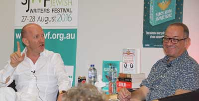 Simon Sebag Montefiore and David Whitman  Photo:   Ben Apfelbaum