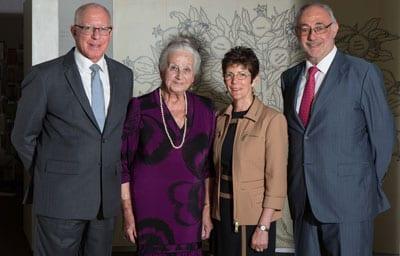 Governor David Hurley, Olga Horak, Hurley and Gus Lehrer