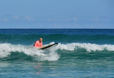 Barak Davidovichi enjoys the surf